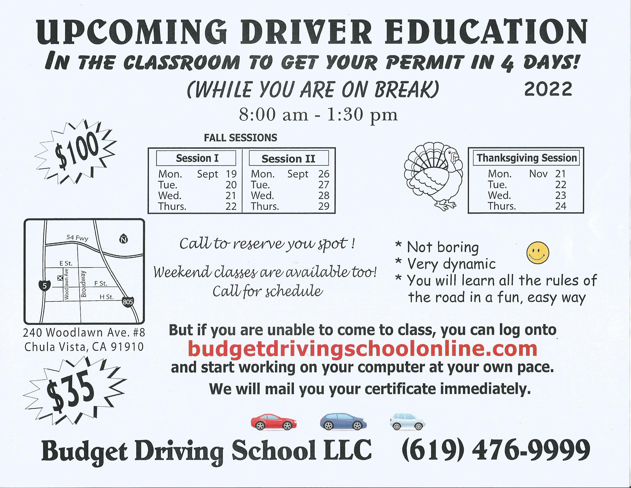 Worksheets Driver Education Worksheets drivered classroombudget drivingschool 619 476 9999 offer valid only on your first dmv attempt